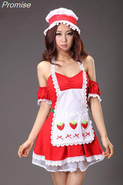 Wholesale Sexy Bar Uniforms - Wholesale-New Arrival Halloween Costumes for Women Cosplay lolita maid costume sexy RPG party girl dress bar nightclub female uniforms