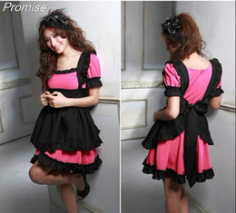 Wholesale Lolita Role Play Dress - Wholesale-New Arrival Super Cosplay lolita maid outfit costume Halloween Costumes for Women role playing girl party dress female clothes