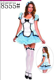 Wholesale Sexy Costumes For Role Play - Wholesale-New Arrival Halloween Costumes for Women Cosplay lolita maid costume role-playing theatrical sexy girl dress female clothes