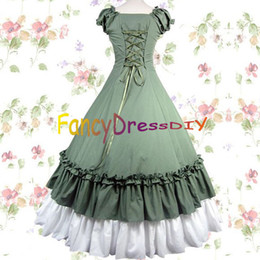 Wholesale-2015 Ball Gowns adult southern belle costume Victorian dress  Halloween costumes for women lolita dress plus size custom V055