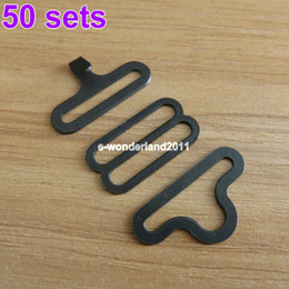 Wholesale Hardware Hooks - Wholesale-50 Sets Bow Tie Hardware Sets Necktie Hook Bow Tie or Cravat Clips Fasteners to Make Adjustable Straps on Bow Ties   Neckties