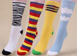 Wholesale Skating Socks - Wholesale-New ofwgkta odd towel bottom skate socks Cotton Terry Golf Wang Rainbow Stripes Zebra and White Clouds men's brand Socks 015w