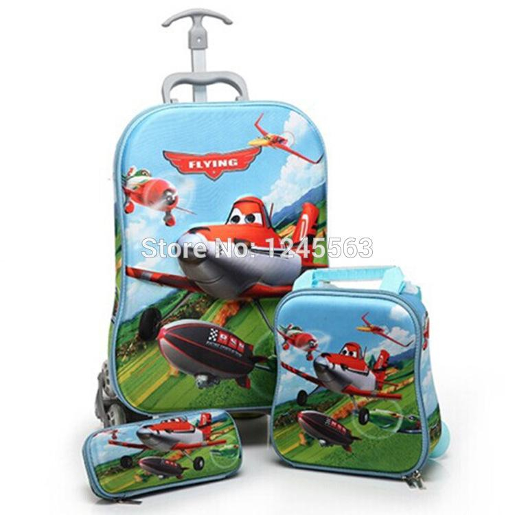 Wholesale Baby Boys Cartoon Dusty Plane Luggage Bag Suits ...