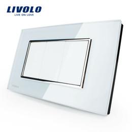 Wholesale Livolo White Switch - Wholesale-Free Shipping,Livolo US Standard Switch, All Blank Socket, VL-C300-81, White Crystal Glass Panel