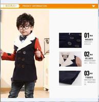 Wholesale Winter Coats Japan - Wholesale-7904# fashion Boy coat Europe 2015 children Spring Winter style childhood korean party kids Japan ourterwear
