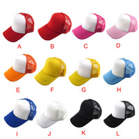 Gros-Attractive unisexe Hat Casual solide Baseball Cap Casquettes Mesh Blank Visor Hat réglable Juin 17
