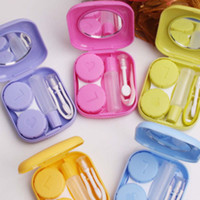 Wholesale HOT Pocket Mini Contact Lens Case Travel Kit Easy Carry Mirror Container Holder