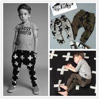 Wholesale Jogger Pants For Kids - Wholesale-Nununu 2015 New Spring Summer Boys Long Pants Kids Joggers Leggings For girls Star Harem Pant Cotton Children's Age 2-7Years