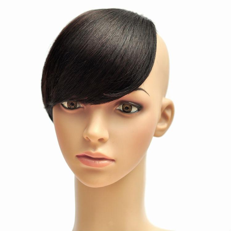 Wholesale-in Stock! 100% Human Bang Hair Girls Clip in Side Bang ... 5b76a9fc0fa