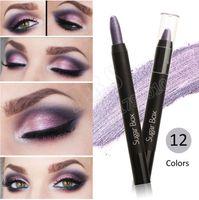Wholesale Wholesale Jumbo Glitter Pens - Wholesale-Sugar Box Jumbo Cream Eyeshdadow Pencil Waterproof Eye Shadow Pen Glitter Brand New Color Shadow for Eye
