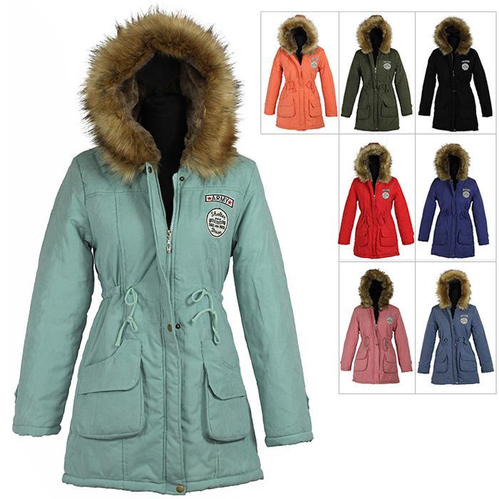 f38ac2cf7 Wholesale-2015 New Long Parkas Female Women Winter Coat Thickening Cotton  Winter Jacket Womens Outwear Parkas for Women Winter