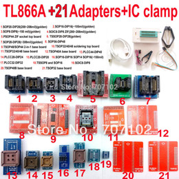 Wholesale Flash Eprom Programmer - Wholesale-TL866A programmer +21 adapters + IC CLAMP High speed TL866 AVR PIC Bios 51 MCU Flash EPROM Programmer Russian English manual