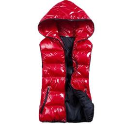 Wholesale Womens Plus Size Down Vests - Wholesale-Plus Size XL-4XL Winter Vest Down Women Outwear Vest Coats Cotton Hooded Winter Warm Womens Vests 7 Colors XZS140515