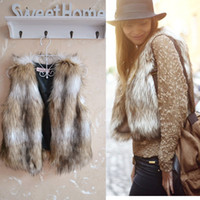 Wholesale Low Priced Leather Coats - Wholesale-Low Price!!! 2015 Autumn Spring and Winter Size M L XL XXL XXXL Luxury Brown leather vest Gilet Outerwear Womens Coat Plus Size