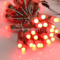Wholesale Led Pixel Lamps - Wholesale-Goeswell RGB Addressable LED Modules Full Color Digital WS2811 12mm Pixel Light DC5V IP65 Christmas Decoration Lamp 100pcs Lot