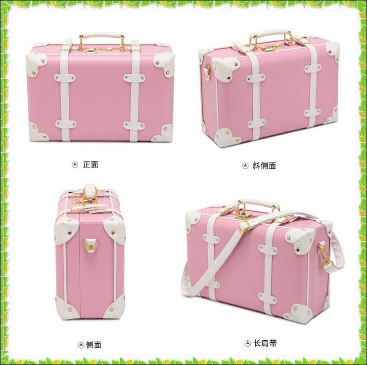 Wholesale Fashion Pink Pu Small Luggage Travel Bag Vintage ...