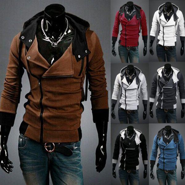 Toptan-2015 Bahar Moda Yeni Fermuar Ceket Erkekler, Kabanlar Ceketler Coat Giyim Men.Outdoor Casual Ve Spor Ceketler, DropFree