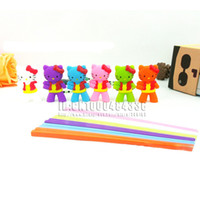 Wholesale Connected Chopsticks - Wholesale-Free shipping 20pars Happy Connected Kids Chopstick Functional Aid Use with SiliconeChopsticks