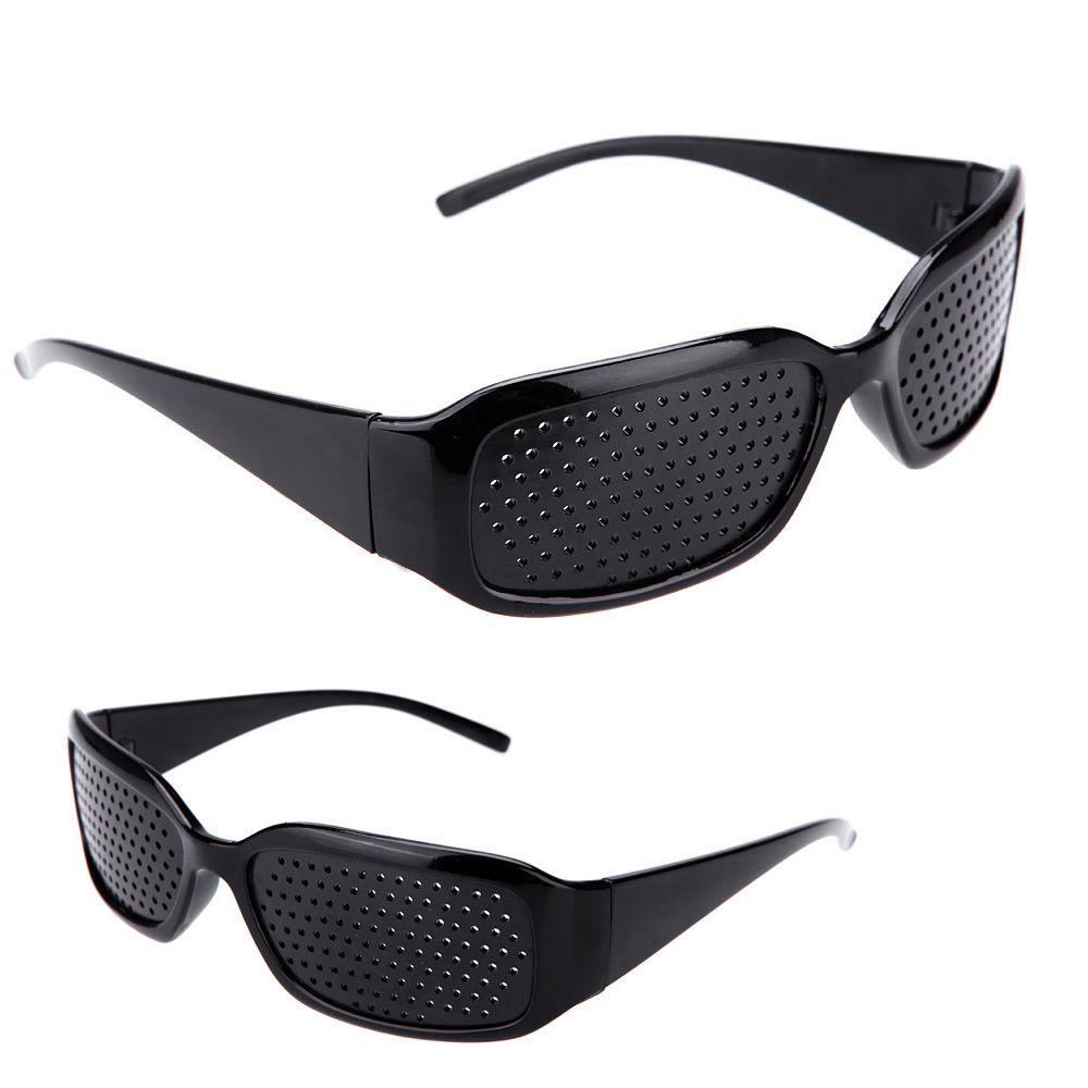 b25994ad2e Wholesale Hot Black Unisex Vision Care Pin Hole Eyeglasses Pinhole Glasses  Eye Exercise Eyesight Improve Plastic Natural Healing Cheap Z1 Smith  Sunglasses ...