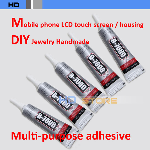 top popular Wholesale-10pcs lot 15ml B-7000 DIY Tool cellphone LCD Touch Screen middle Frame housing Glue Multipurpose adhesive B7000 2019