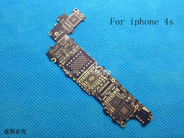 Wholesale Iphone 4s Logic Board Part - Wholesale-5 pcs Main Motherboard Logic Bare Board Replacement Repair Parts for iPhone 4S 4GS