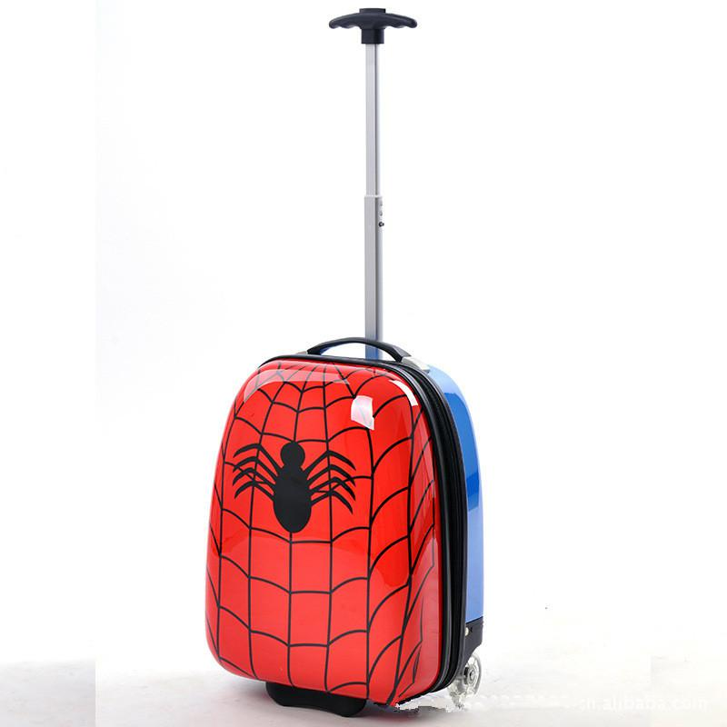 Wholesale High Quality Boys Red Spiderman Carry On Luggage/Kids 16 ...