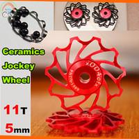 Wholesale Wholesale Bike Prices - Wholesale-wholesale price 11T cycling bike Ceramics Jockey Wheel for Rear Derailleur Pulley bicycle rear derailleur guide pulley bearing