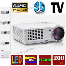 Wholesale Hd Projektor - Wholesale-1080P full hd led Digital projector support 1920x1080 3d home cinema theater projetor lcd video proyector projektor hdmi tv usb