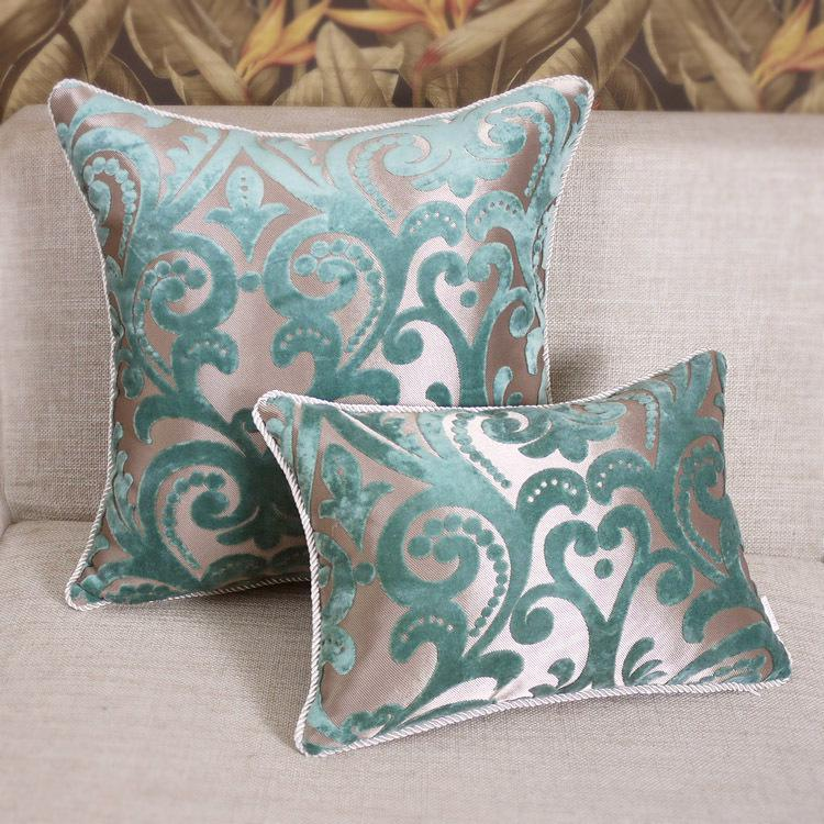 Promotion Light Blue Sofa Cushion Designs European Luxury Cushion Covers Chic Pillow Cases Back Cushion 45x45cm Replacement Cushions For Wicker Patio ... & Promotion Light Blue Sofa Cushion Designs European Luxury Cushion ... pillowsntoast.com