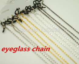 Wholesale Metal Chain Lanyards - Wholesale-free shipping four colors metal sunglass eyewear neck cord chain retainer strap lanyard holder eyeglass glasses retainer