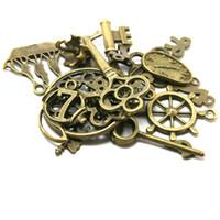 typ gold anhänger großhandel-Großhandels-Freies Verschiffen! Heiße Mischart Antike Bronze bezaubert Legierung 160pcs Anhänger DIY für die Armbandhalskettenschmucksachenherstellung