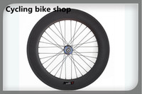 Wholesale Rear Wheel Tracking - Wholesale-Hot sale 88mm Depth carbon clincher track wheels,700c fixed gear wheels rear fixed wheel