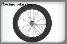 Wholesale Carbon Fix Wheels - Wholesale-Hot sale 88mm Depth carbon clincher track wheels,700c fixed gear wheels rear fixed wheel