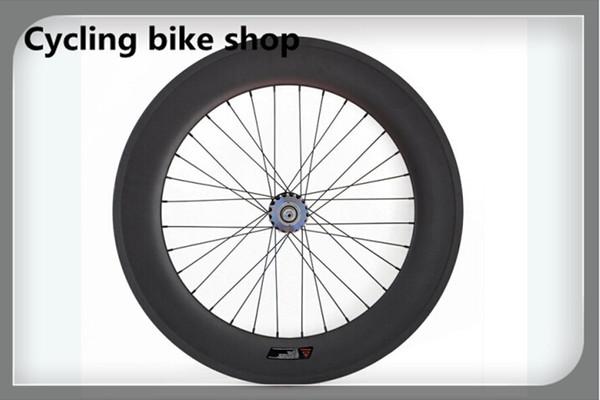 Las ruedas de la pista del remachador del carbono de la venta al por mayor de la venta al por mayor de 88m m, ruedas fijas del engranaje 700c fijaron la rueda fija