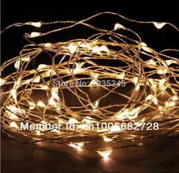 Corda luz led ao ar livre 12v on-line-Atacado-33Ft 100 LED corda de fio de cobre luzes LED luzes de fadas para decoração de festa de casamento de Natal ao ar livre 12V DC Power Adapter incluído