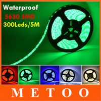 Atacado-Ultra Bright impermeável 5M Led luz de tira SMD 5630 300LEDs DC 12V 16 pés 16,4 pés flexível String Ribbon Led fita IP65 IP67 IP20