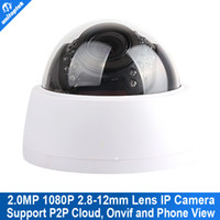 IP Camera all'ingrosso-Dome HD 1080P 2.0MP 30Pcs IR di visione notturna 2.8-12mm VariFocal 4x zoom manuale ONVIF P2P Nube