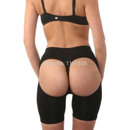 Grossistes En Gros Pas Cher-Gros-femmes Ouvrir Butt Bottom Lifter Shapwear Fesses Enhancer Boyshort Panties Bum Shapers Ascenseur Culotte ventre thermique Leg Parage