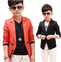 Wholesale Korean Kids Blazer - Wholesale-2015 New Kids Casual Suits Boys Jackets Korean Style Children's Wedding Blazers for Boys Brand Wholesale Formal Blazers, C006
