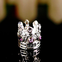 Wholesale Crown Bead Caps - Wholesale-NEW Free Shipping 1PC Jewelry 925 Silver Bead Charm European Imperial Crown Bead Fit Pandora Bracelets & Bangles H606