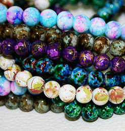 Wholesale-2015 New Arrival 6MM 140pcs lot Bead Round Assorted Colorful Glass Beads For Women Bracelet making Wholesale or Retail (BBD129)