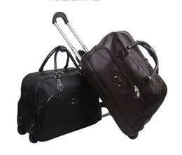 Wholesale Travel Suitcase Wheels - Wholesale-Luxury High Quality Waterproof Wheeled Carry On Travel Luggage Bag With Large Capacity For Men And Women