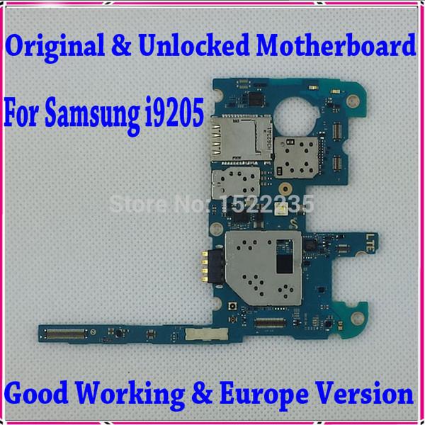 Wholesale-100% Original entsperrt i9205 Mainboard, Europa-Version für Samsung Galaxy Mega 6.3 i9205 Motherboard mit Chips, gute Arbeit