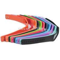 браслет оптовых-Wholesale-Gearfit Replacement Rubber Band For  GEAR Fit R350 Smart Bracelet wristband Strap with Metal Clasps No Tracker