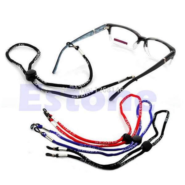 Venta al por mayor-S111 envío gratis gafas de sol ajustables cuello correa correa deporte gafas cadena cordón Holder