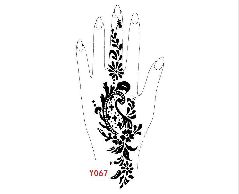 Wholesale Professional Big Size Henna Tattoo Stencils Stencil Body