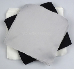 Wholesale-14cm*14cm Lens Clothes Microfiber Glasses Cleaning Cloth Black Square sun glasses Eyewear & Accessories