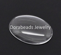 Gros-30 oval verre Dome Seals 25x18mm (B13938) 8seasons