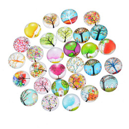 Wholesale Glass Domes For Crafts - Wholesale-10 PCs Mix Randomly Styles Glass Flatback Scrapbooking Dome Cabochons 20mm For Photo Craft Cameo 3D Domes cabochons