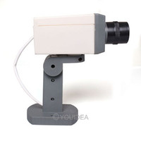 безопасность систем обнаружения оптовых-Wholesale-Wholesale 1pc Simulation Realistic Looking Motion Sensor Detection System Fack Dummy Security Camera Home Safety